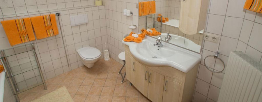 head badezimmer appartement stubai troger